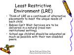 least restrictive environment lre