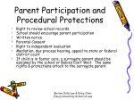 parent participation and procedural protections
