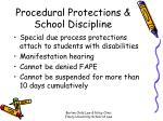 procedural protections school discipline