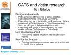 cats and victim research toni bifulco