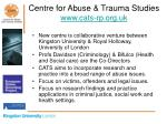 centre for abuse trauma studies www cats rp org uk