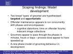 scoping findings model development