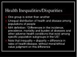 health inequalities disparities