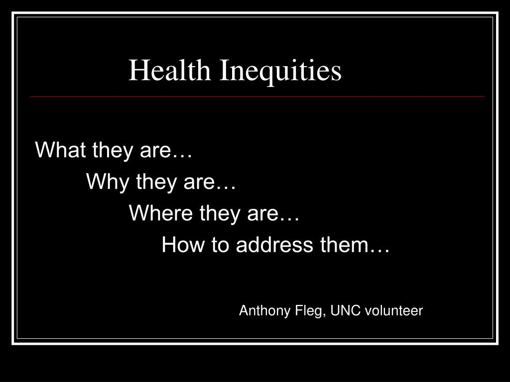 health inequities l.
