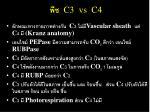 c3 vs c4