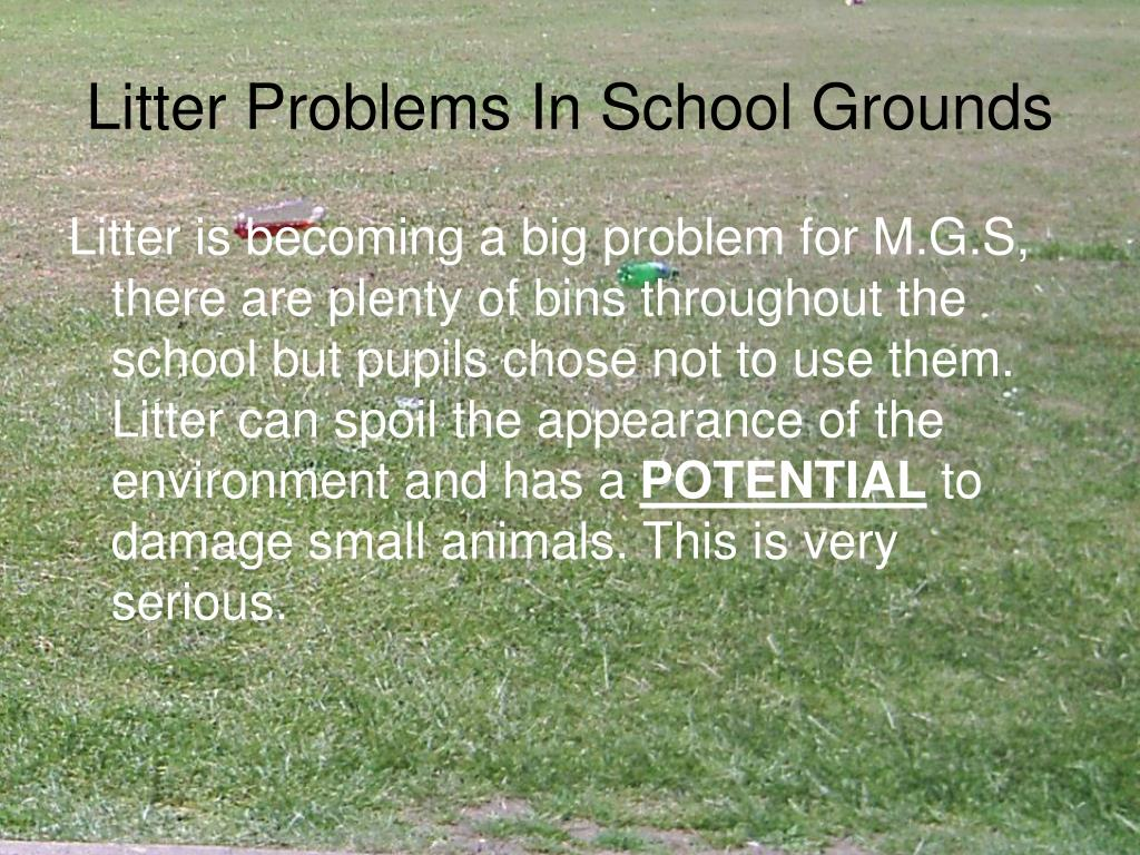 litter problems in school grounds l.