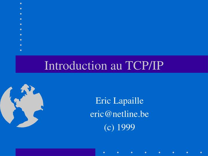 introduction au tcp ip n.