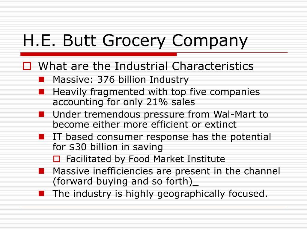 h e butt grocery company l.