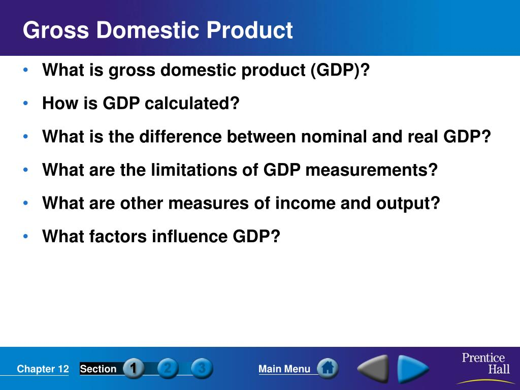 gross domestic product l.