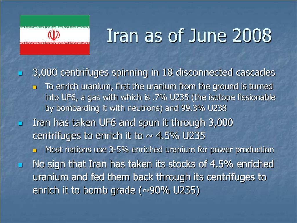 Iran as of June 2008