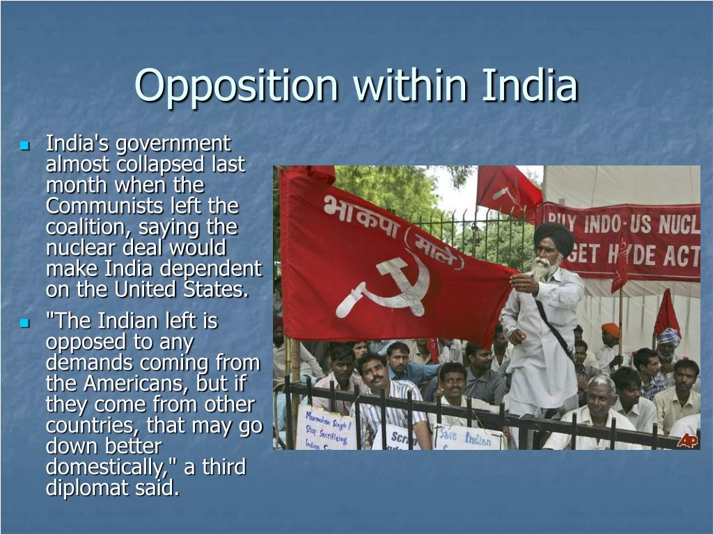 Opposition within India
