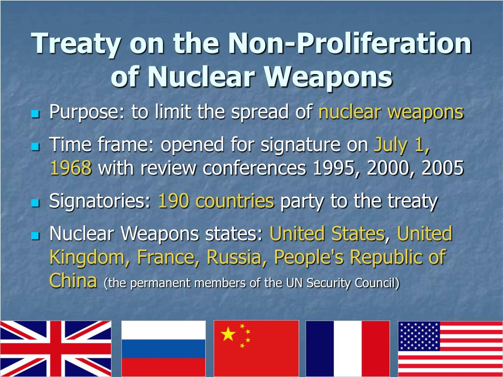 Treaty on the Non-Proliferation of Nuclear Weapons
