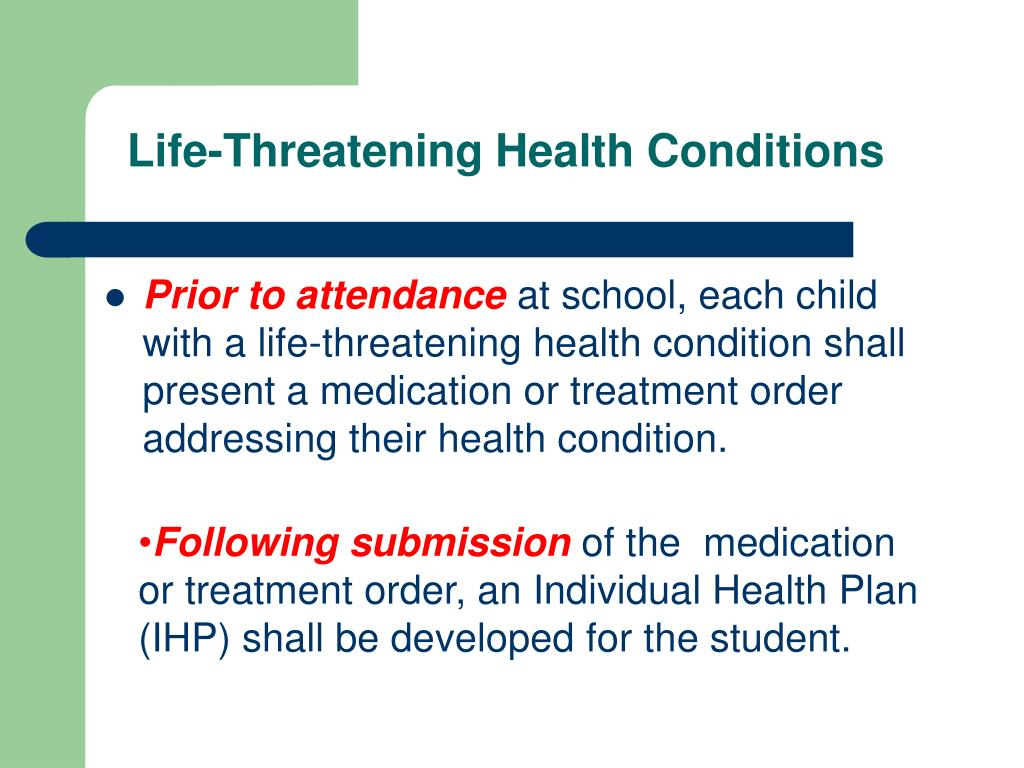 Life-Threatening Health Conditions