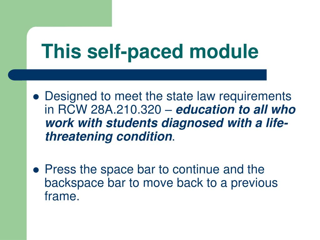 This self-paced module