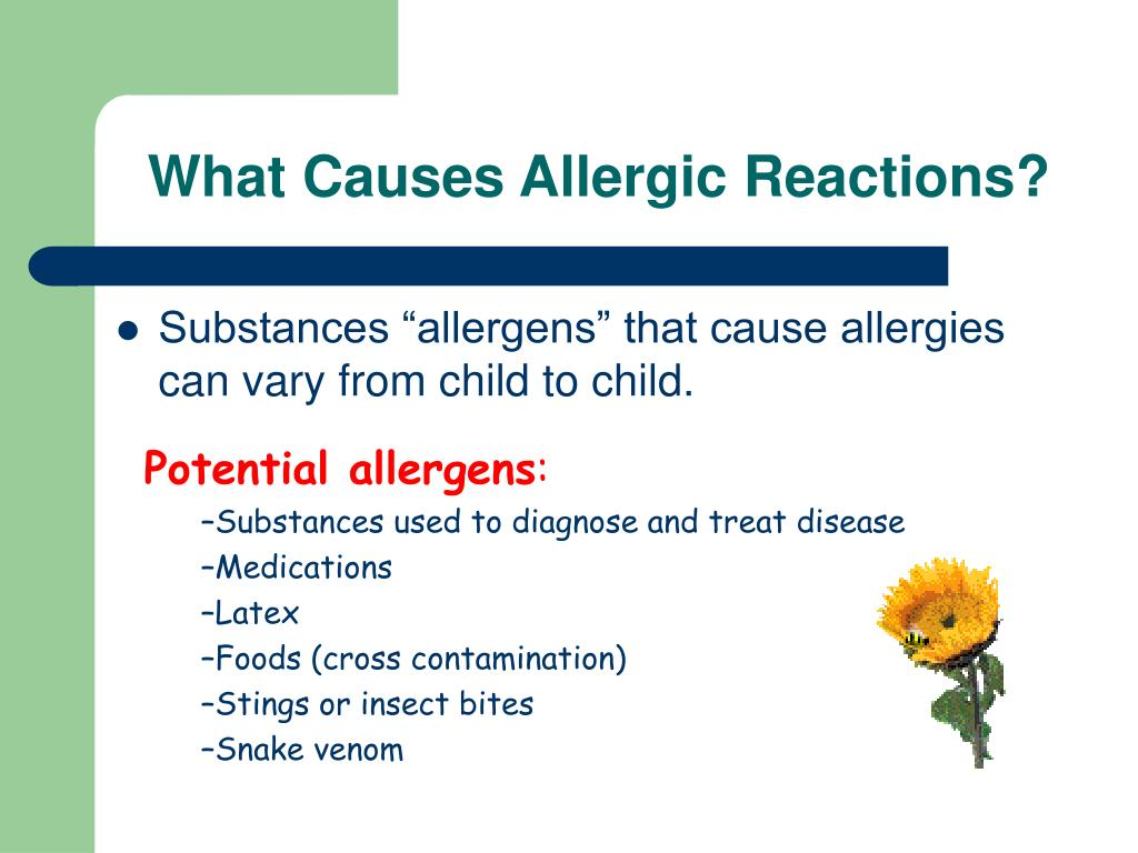 What Causes Allergic Reactions?