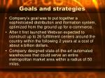 goals and strategies