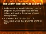 industry and market cont d