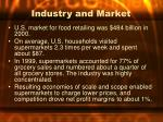 industry and market