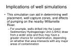 implications of well simulations