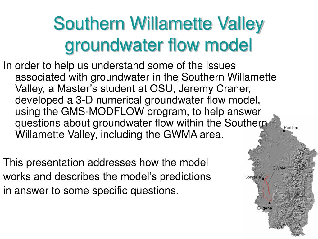 southern willamette valley groundwater flow model l.