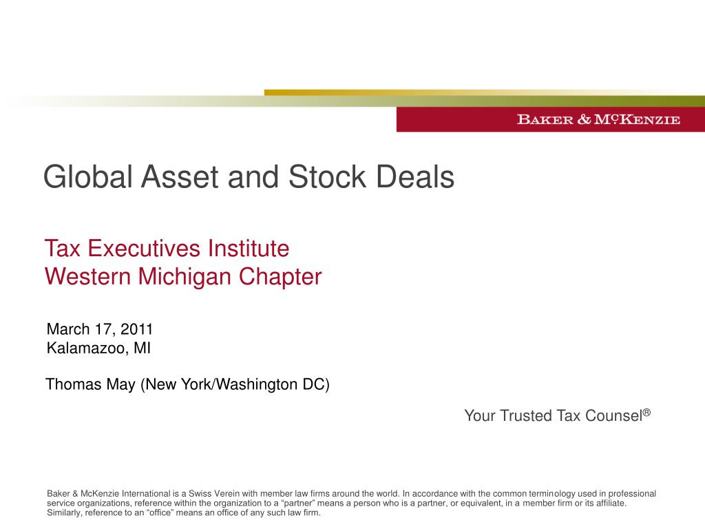 global asset and stock deals l.