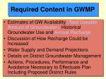 required content in gwmp