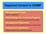 required content in gwmp10