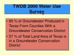 twdb 2000 water use survey