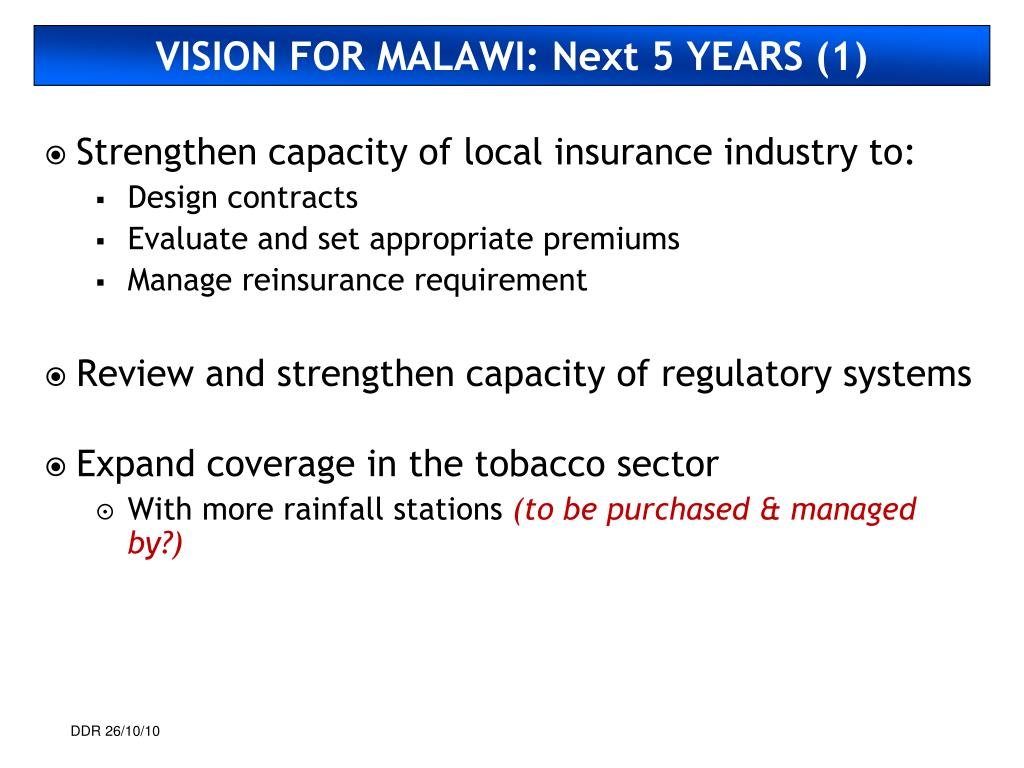 VISION FOR MALAWI: Next 5 YEARS (1)