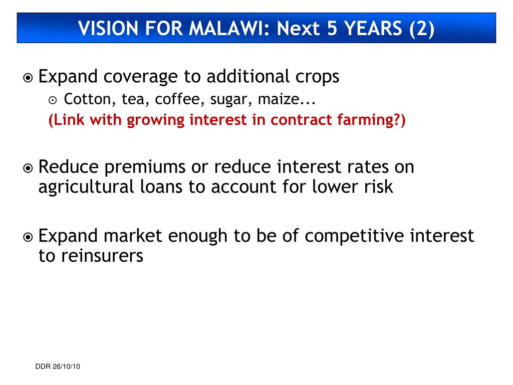 VISION FOR MALAWI: Next 5 YEARS (2)