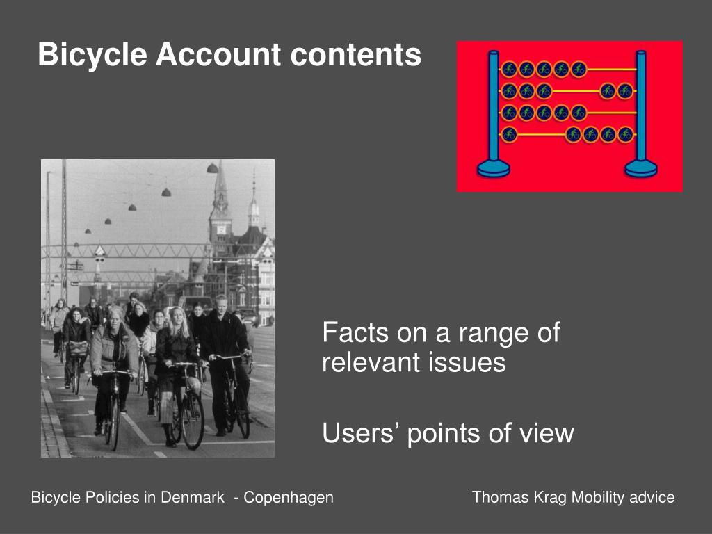 Bicycle Account contents