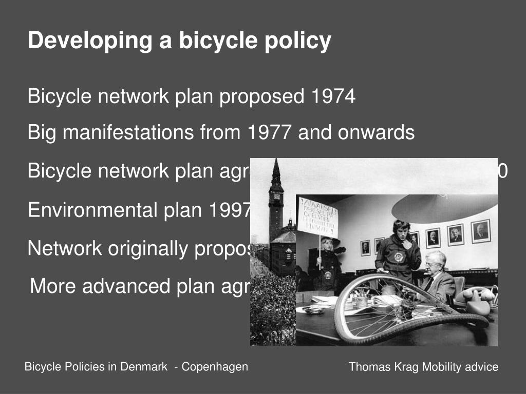 Developing a bicycle policy
