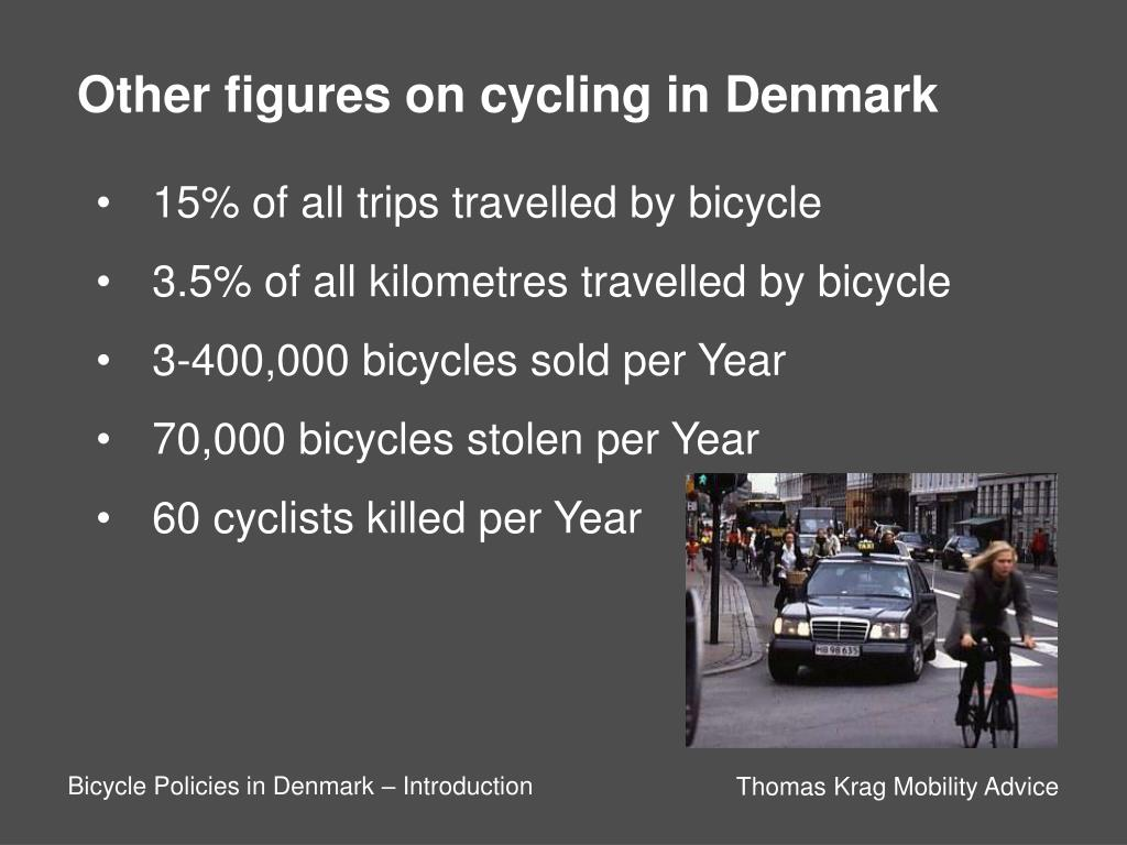 Other figures on cycling in Denmark