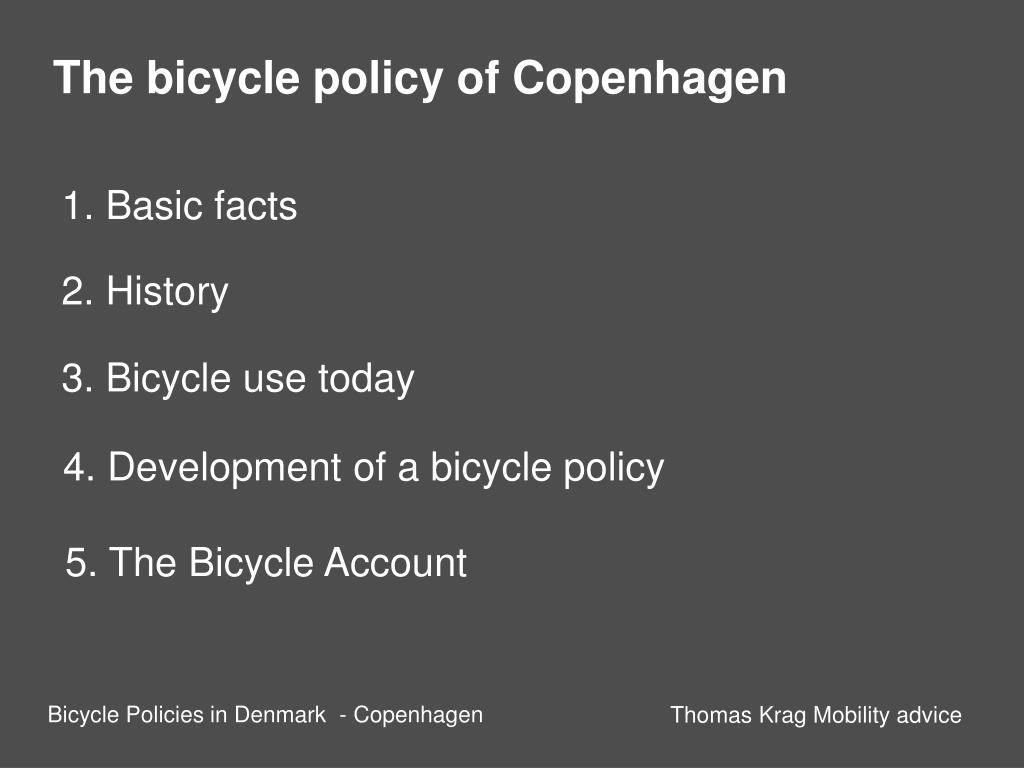 The bicycle policy of Copenhagen