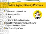federal agency security practices