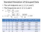 standard deviation of grouped data19