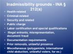 inadmissibility grounds ina 212 a