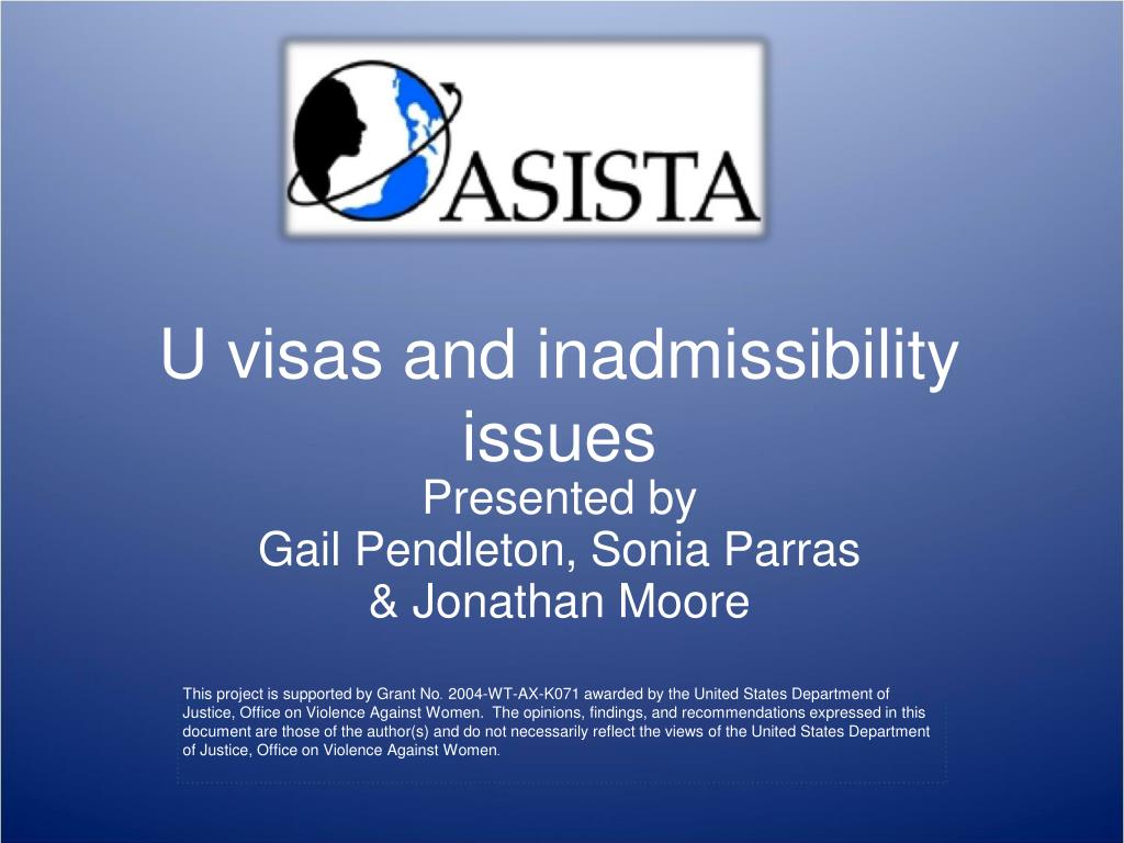 u visas and inadmissibility issues l.