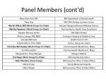 panel members cont d