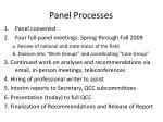 panel processes