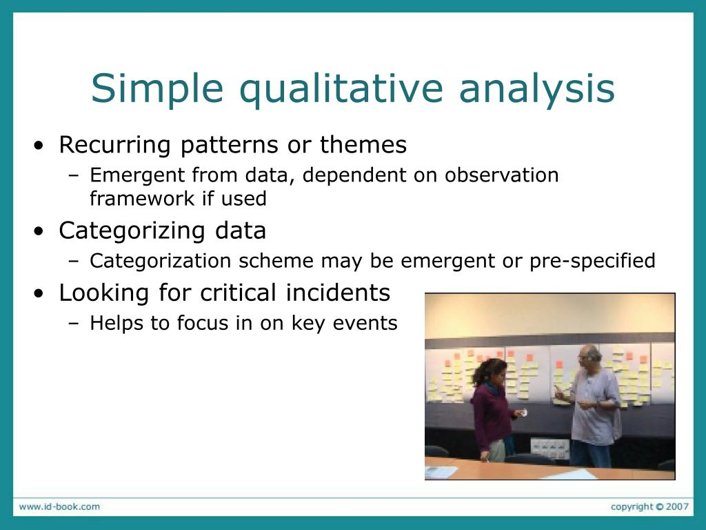 Simple qualitative analysis