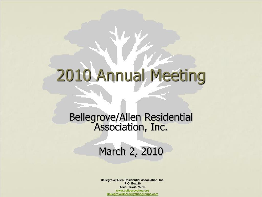 2010 annual meeting l.
