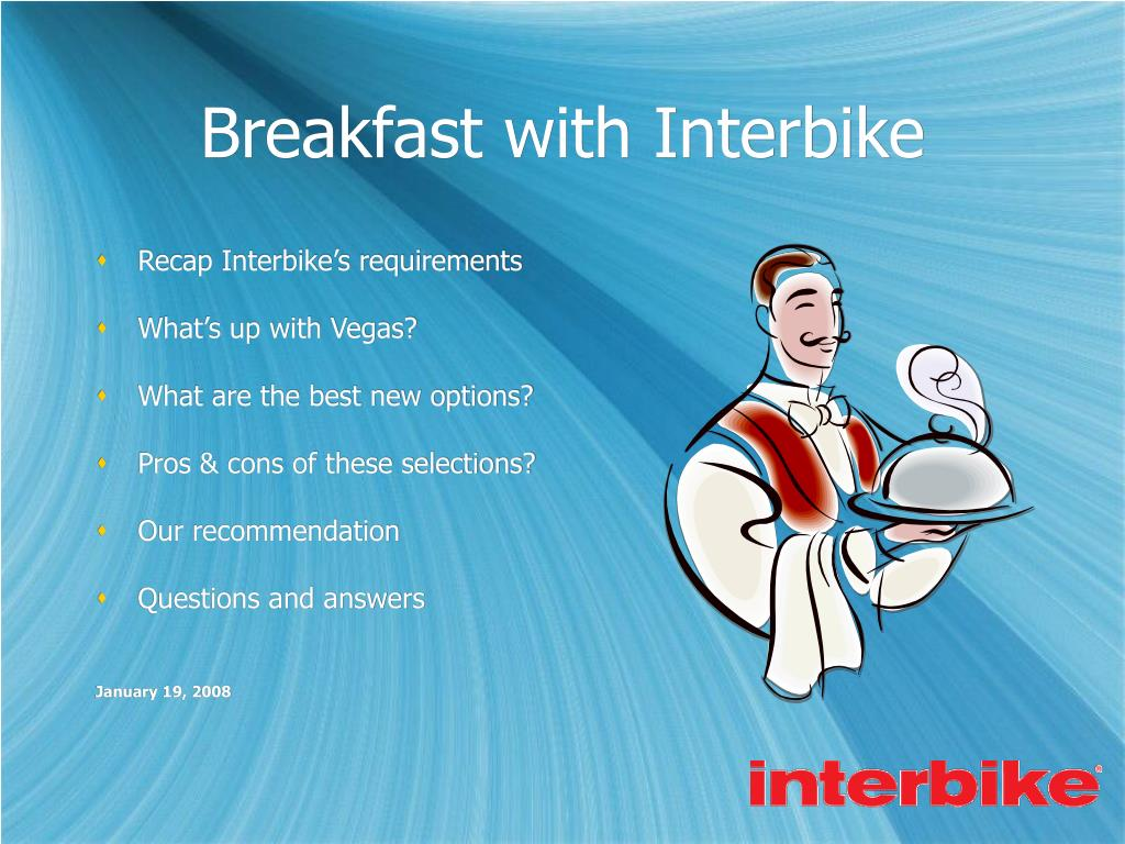 breakfast with interbike l.