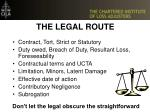 the legal route