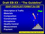 draft eb xx the guideline