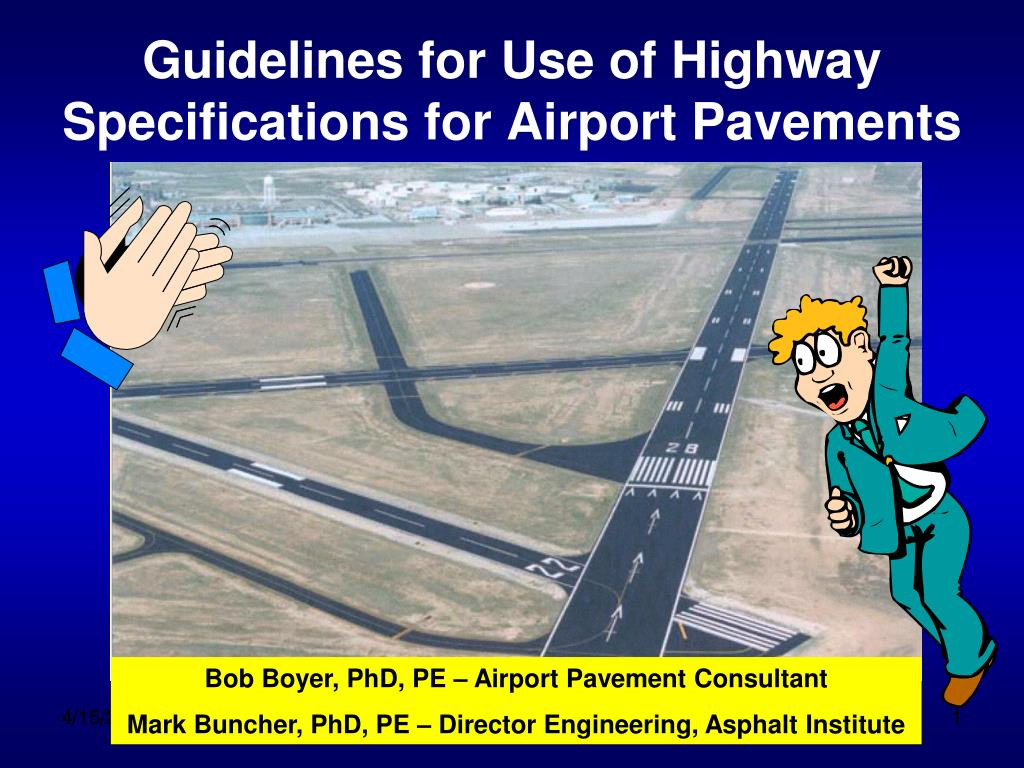guidelines for use of highway specifications for airport pavements l.