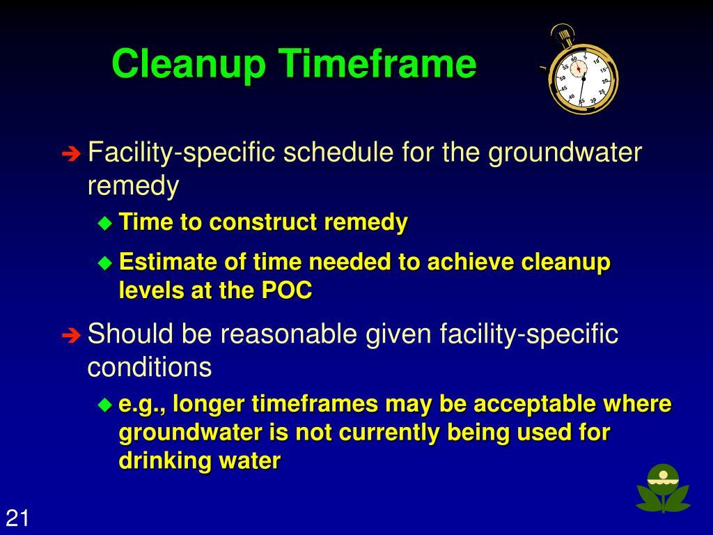 Cleanup Timeframe