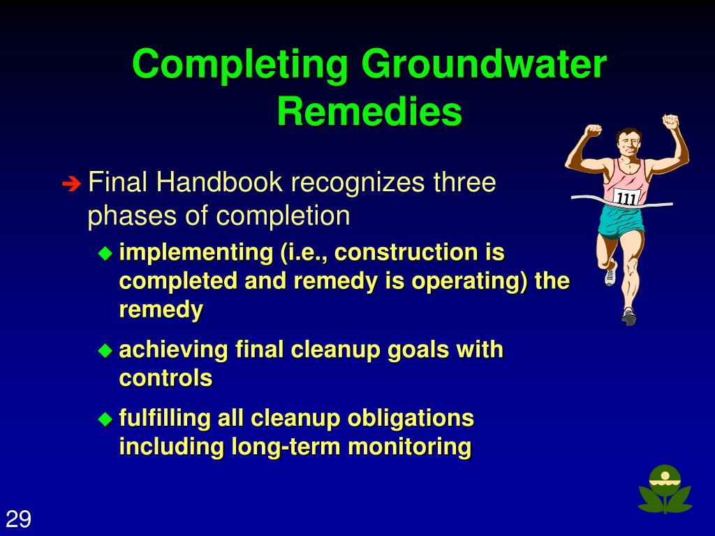Completing Groundwater Remedies