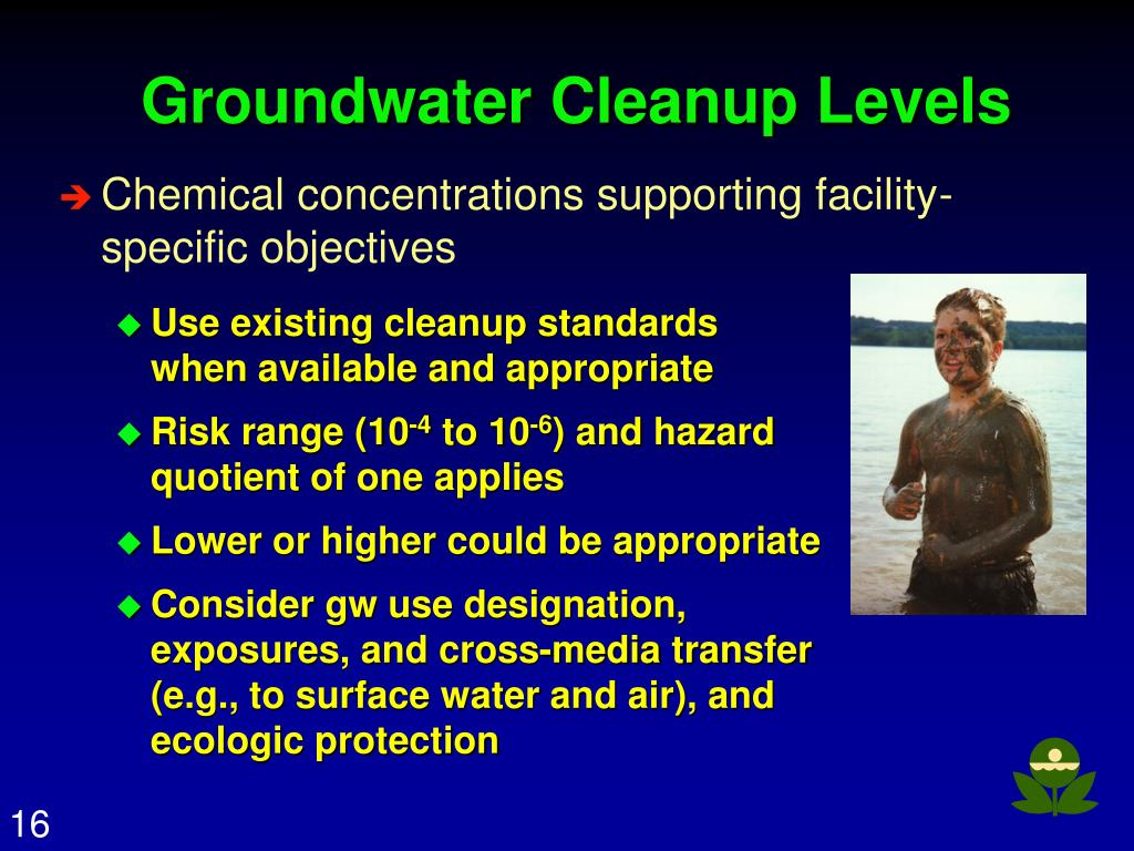 Groundwater Cleanup Levels