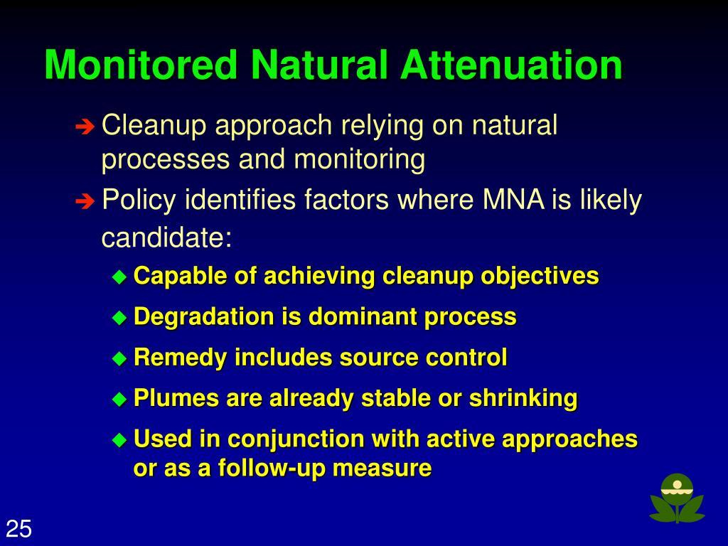 Monitored Natural Attenuation